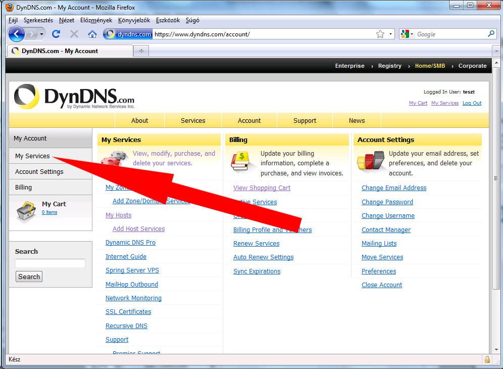 DynDNS és az IP kamera beállítása interneten keresztüli