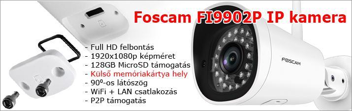 Foscam FI9902P IP kamera külső MicroSD kártyahellyel.