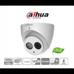 Dahua IP turretkamera - IPC-HDW4231EM-ASE (2MP, 2,8mm, kültéri, H265+, IP67, IR50m, ICR, WDR, SD, ePoE, Mikrofon, SD)