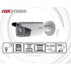 Hikvision IP csőkamera - DS-2CD2T43G0-I8 (4MP, 2,8mm, kültéri, H265+, IP67, IR80m, ICR, WDR, SD, PoE)