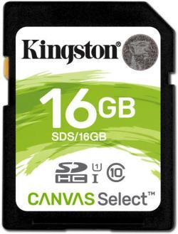 Kingston SD memóriakártya, 16GB, Class 10